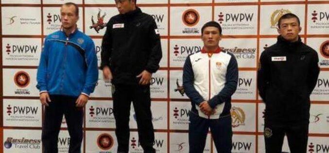 Борец греко-римского стиля Каныбек Жолчубеков завоевал бронзовую медаль на международном турнире в Польше!!!