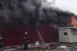 На Китайском рынке Уссурийска, где работали кыргызстанцы, произошел крупный пожар