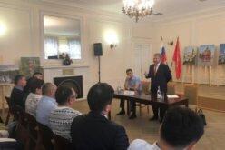 Элчи А. Жекшенкулов Санкт-Петербургда кыргызстандыктар менен жолугушту