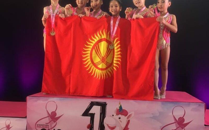 Юные гимнастки из Кыргызстана завоевали 8 золотых медалей на турнире в Испании